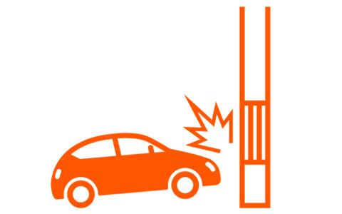 事例3自爆事故発生(ガードレール、電柱、バック時)